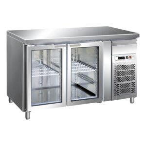 Masa frigorifica cu 2 usi din sticla 282Lt