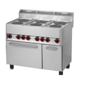 Masina de gatit electrica cu 6 plite si cuptor horeca