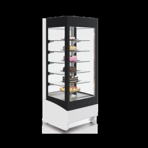 vitrina verticala cofetarie cu 5 rafturi rotative