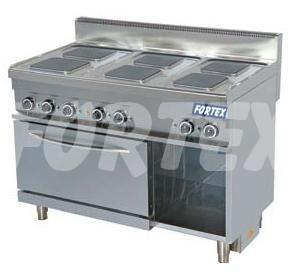 Masina de gatit electrica cu 6 plite patrate si cuptor